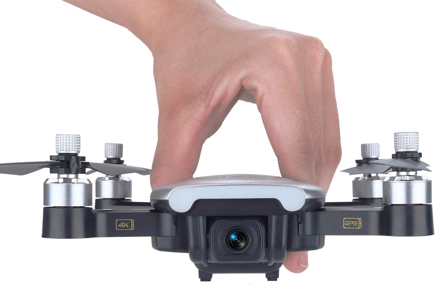 Contixo F30 Drone for Kids & Adults Wi-Fi 4K UHD Camera and GPS, FPV Quadcopter for Beginners, Foldable Mini Drone, Brushless Motor, Follow Me, Two Batteries, and Carrying Case Included
