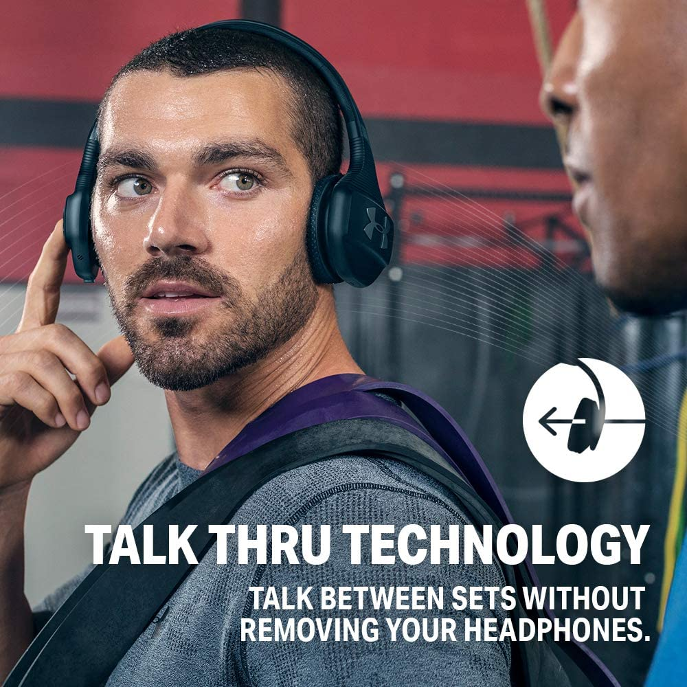 JBL Under Armour Sport Wireless Train – On-Ear Bluetooth Headphones with Microphone Made for Sport. Wireless Headset with IPX4 Sweatproof, Works with Android and Apple iOS