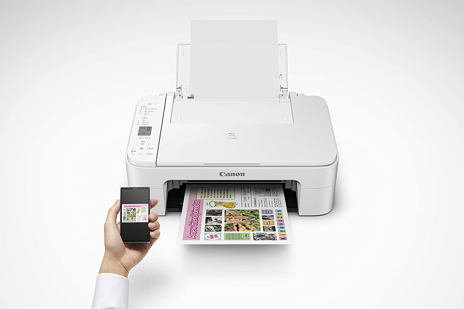 Canon TS3122 US Wh/Blk Pixma Wireless Inkjet All-In-One Printer