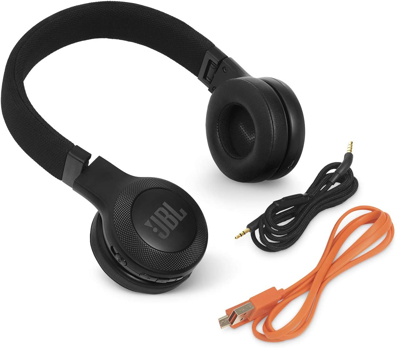 JBL E45BT Wireless On-Ear Headphones with One-Button Remote and Mic (Black)